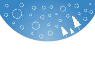 l'hiver de Noël de fond Images libres de droits
