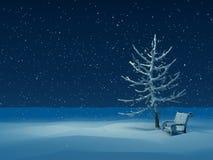 l'hiver de nuit Photos libres de droits