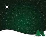l'hiver de nuit Photographie stock