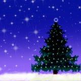 l'hiver de nuit d'illustration Photographie stock