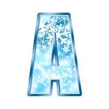l'hiver de numéro d'alphabet Photos stock
