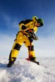 l'hiver de pêche image stock