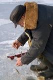 l'hiver de pêche Photo stock