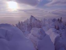 l'hiver de paysage Image libre de droits