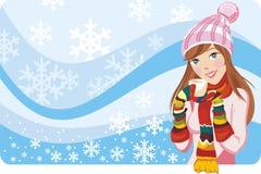 l'hiver de quatre saisons Image stock