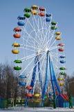 l'hiver de roue de stationnement d'attraction Photos libres de droits