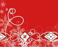l'hiver de rouge de fond Illustration Stock