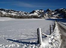 l'hiver de route Photo libre de droits