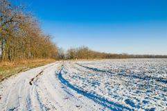 l'hiver de route Photos libres de droits