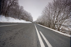 l'hiver de route Photo stock