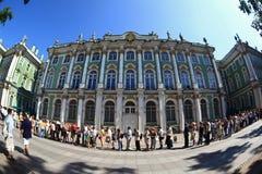 l'hiver de rue de Pétersbourg Russie de palais d'ermitage Photo stock
