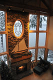 l'hiver de salle de séjour Photos libres de droits