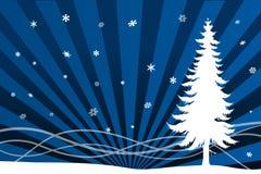 l'hiver de scénario de Noël illustration stock