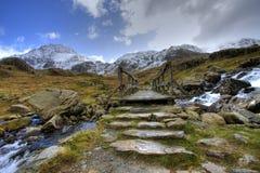 l'hiver de snowdonia Images stock