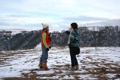 l'hiver de soeurs Photo libre de droits