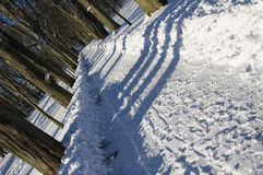 l'hiver de stationnement Image libre de droits