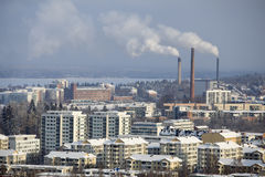 L'hiver de Tampere Images stock