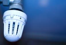 l'hiver de temps de thermostat de la chaleur de dispositif de contrôle Image libre de droits