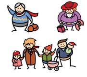 L'hiver de vacances de famille Images libres de droits