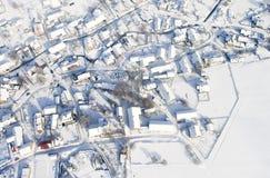 l'hiver de village Photos libres de droits