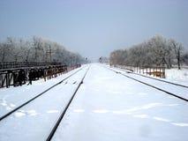 l'hiver de voie Photographie stock