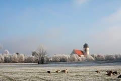 L'hiver en Bavière Photos libres de droits