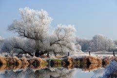 L'hiver en Bavière Images libres de droits