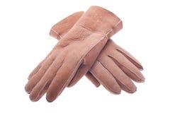 l'hiver en cuir de gants photo libre de droits