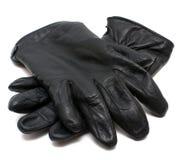 l'hiver en cuir de gants Photographie stock
