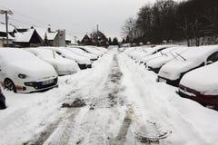 L'hiver en Europe Allemagne Sarre Image libre de droits