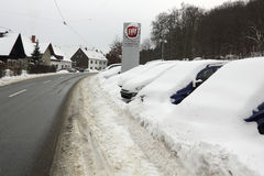 L'hiver en Europe Allemagne Sarre Image stock