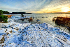 L'hiver en Finlande Photo stock