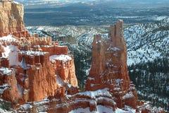 L'hiver en gorge de Bryce Images stock
