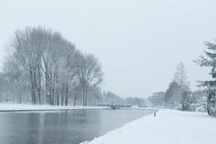L'hiver en Hollande image stock