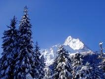 L'hiver en montagnes Photographie stock libre de droits