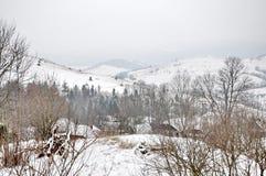 L'hiver en montagnes carpathiennes Image libre de droits