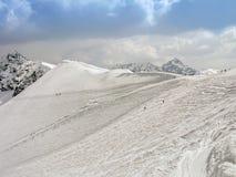 L'hiver en montagnes de Tatra Images libres de droits