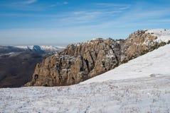 L'hiver en montagnes Dimerdzhi Images libres de droits