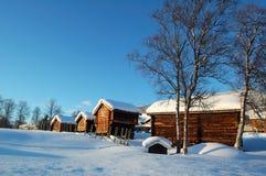 L'hiver en Norvège Photographie stock libre de droits