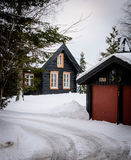 L'hiver en Norvège images libres de droits