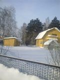 L'hiver en Sibérie Image libre de droits
