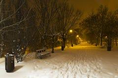 L'hiver en stationnement Photo stock