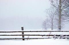 L'hiver en stationnement photographie stock libre de droits