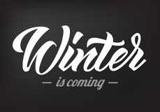 L'hiver est la prochaine calligraphie 2019 illustration stock