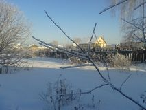 L'hiver est venu photographie stock