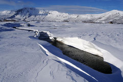 L'hiver ; fleuve Photo stock