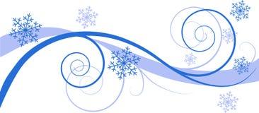 l'hiver floral de fond illustration de vecteur