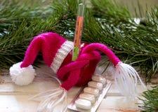 L'hiver froid Mitaines de chapeau de chapeau de coeur image libre de droits