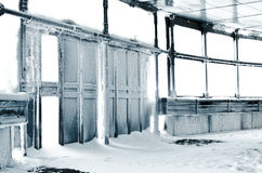 L'hiver gelé de dors Photographie stock libre de droits