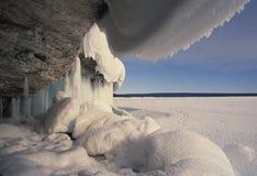 l'hiver glacial de scène Images libres de droits